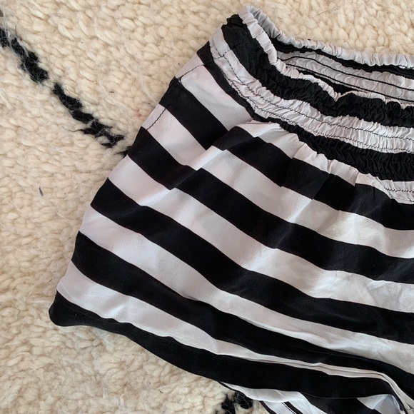 Mikoh Pants - Gray and Black Striped Mikoh Beach Shorts